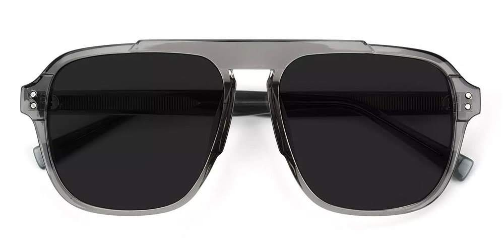 Manchester Aviator Sunglasses Clear Gray