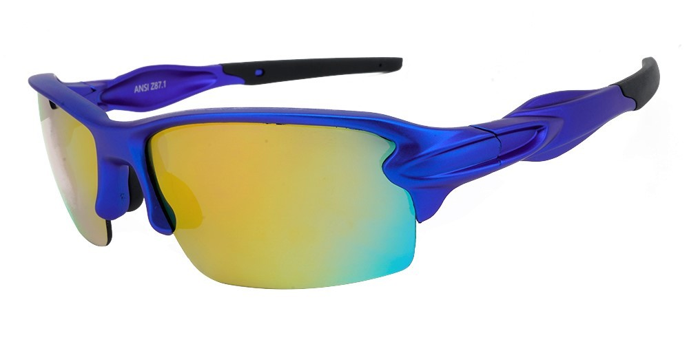 Matrix S713M Prescription Sports Sunglasses - Metallic Blue