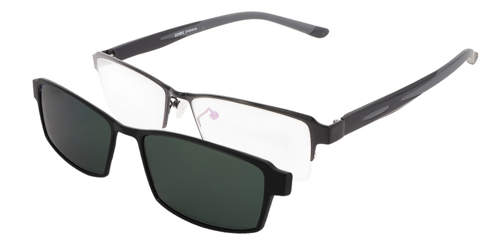 Melvin Clip-On Rx Sunglasses
