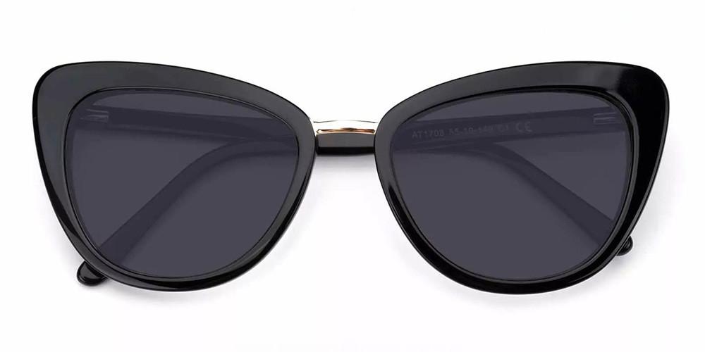 Rockford Cat Eye Prescription Sunglasses Black