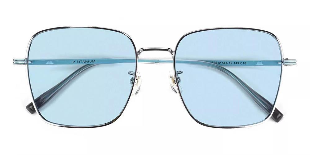 Oakland Prescription Sunglasses - Titanium Frame - Silver