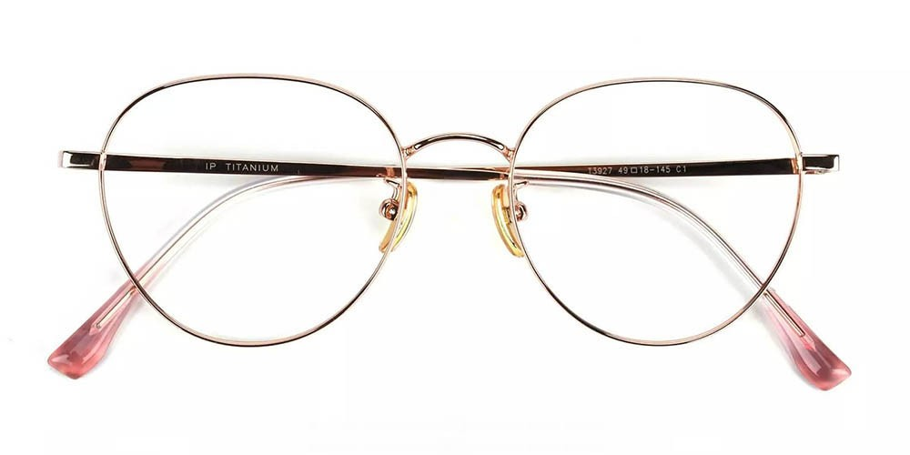 Palm Bay Prescription Glasses - Titanium Frame - Gold