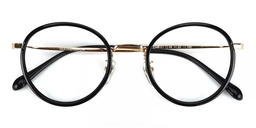 Lamont Prescription Glasses - Handmade Acetate - Black