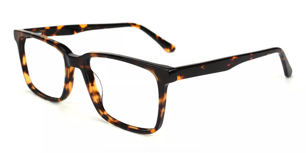 Quincy Prescription Glasses - Handmade Acetate - Tortoise