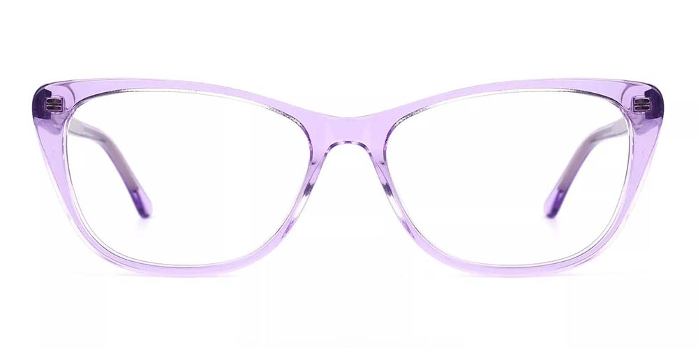 Tyler Cat Eye Prescription Glasses - Handmade Acetate - Purple