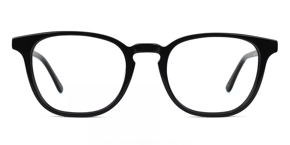 Knoxville Prescription Glasses - Handmade Acetate - Black