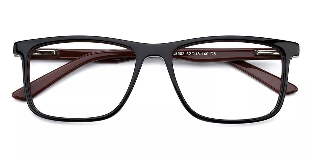 Mcallen Prescription Glasses - Hand Made Acetate - Brown