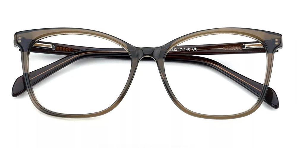 Benicia Cat Eye Prescription Glasses - Handmade Acetate - Green