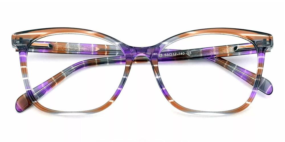 Benicia Cat Eye Prescription Glasses - Handmade Acetate - Tortoise