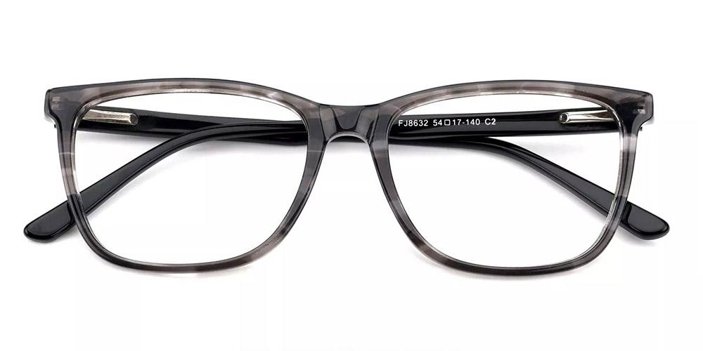 Benicia Cat Eye Prescription Glasses - Handmade Acetate - Grey