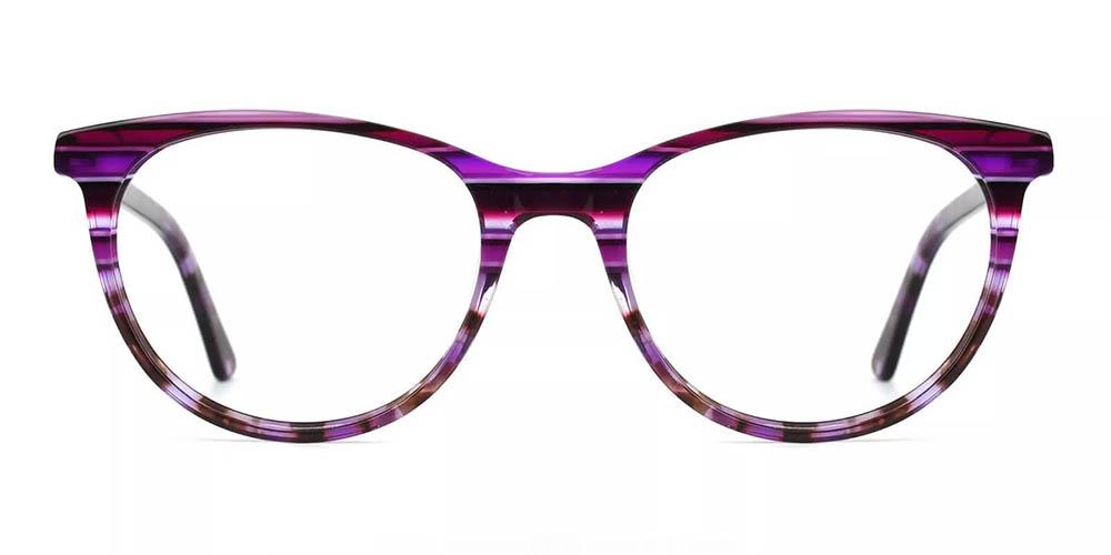 Athens Cat Eye Prescription Glasses - Handmade Acetate - Purple