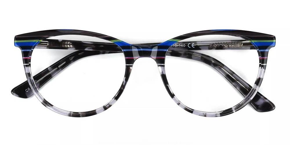 Athens Cat Eye Prescription Glasses - Handmade Acetate - Tortoise