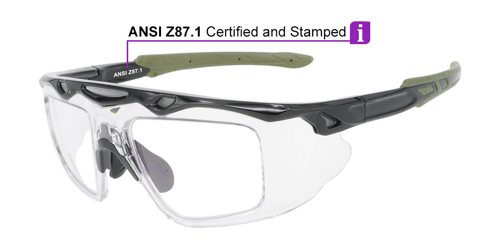 Matrix J161 Prescription Safety Glasses & Goggles - ANSI Z87.1 Certified Stamped