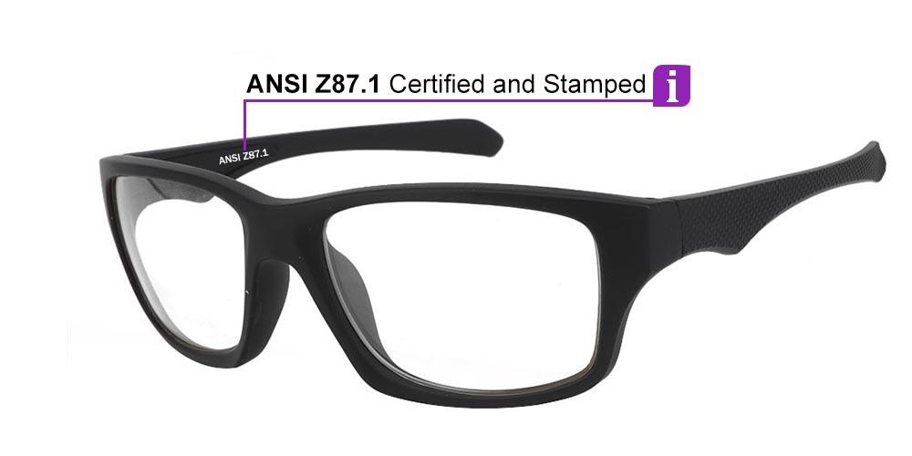 Fusion Spokane Prescription Safety Glasses -- ANSI Z87.1 Rated