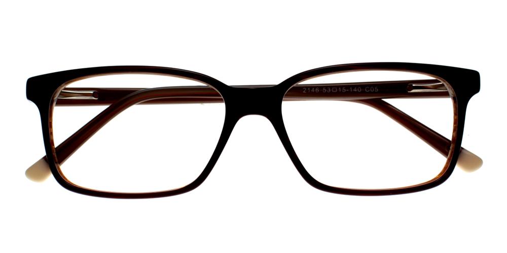 Benicia Eyeglasses BrownBlack