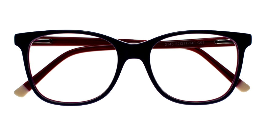 Danville Eyeglasses Black Red
