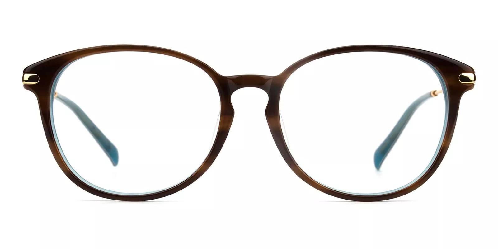 Clinton Acetate Eyeglasses Demi Amber
