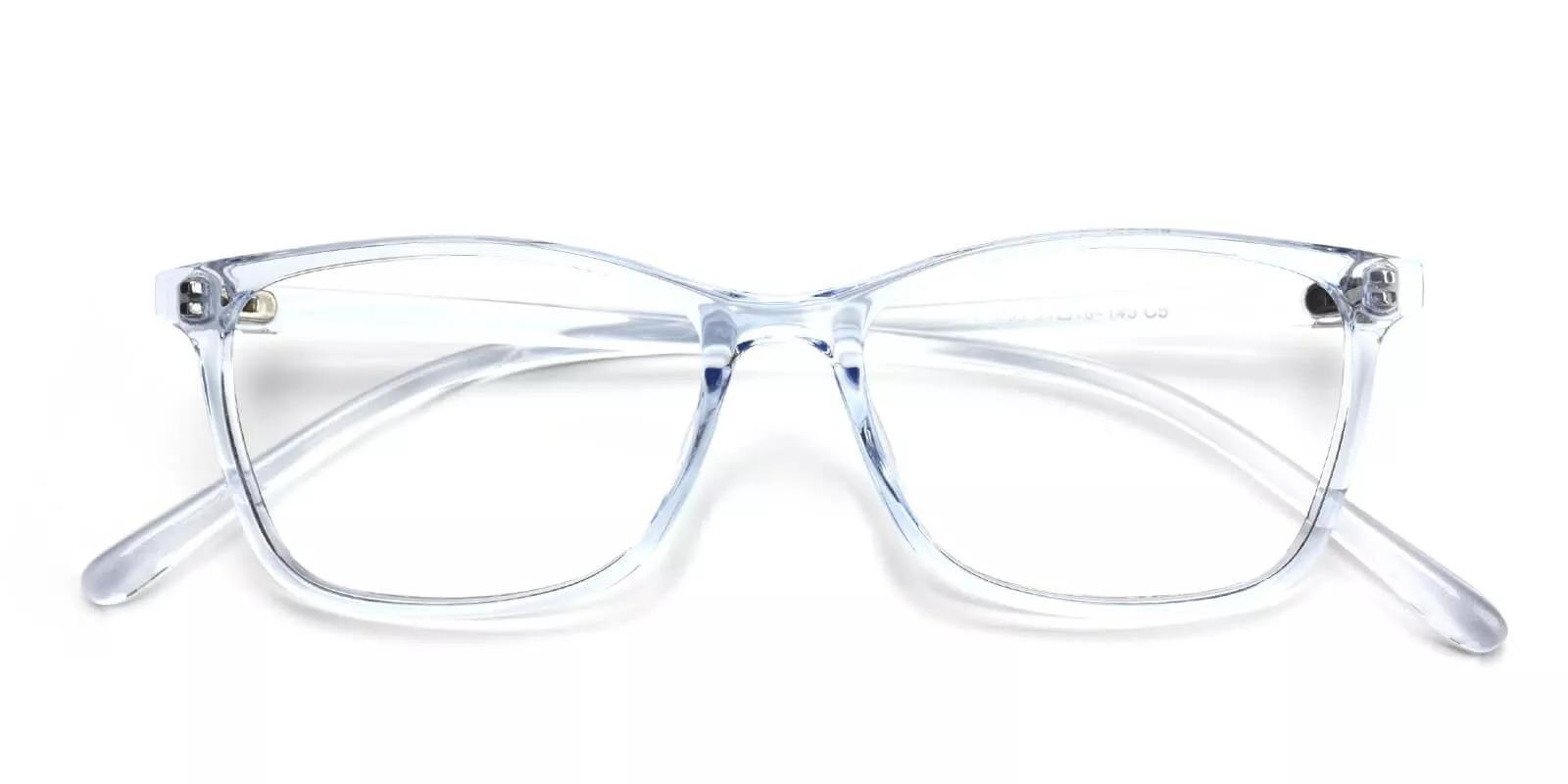 Davenport Light Weight Eyeglasses Blue Clear