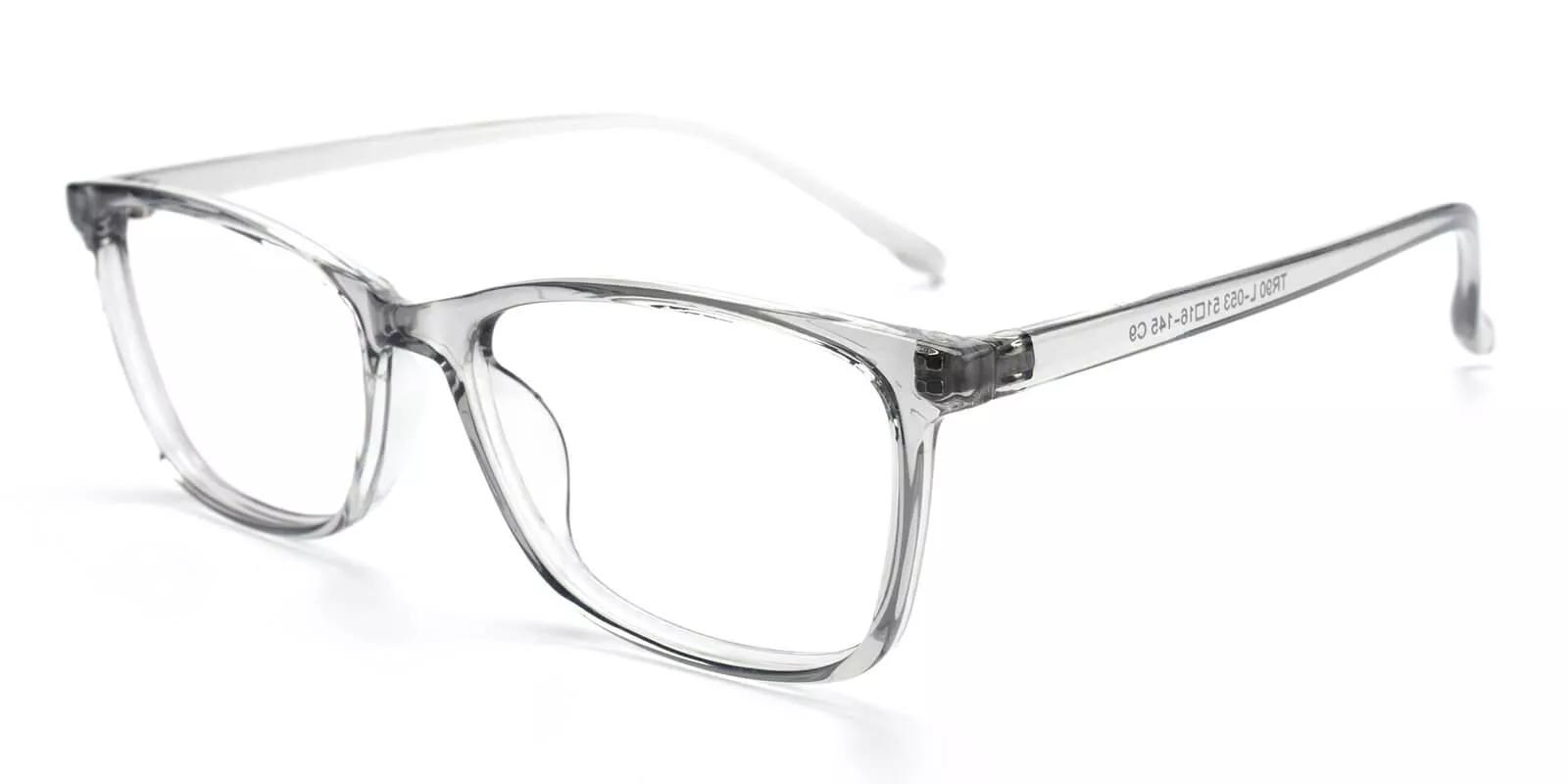 Davenport Light Weight Eyeglasses Gray Clear