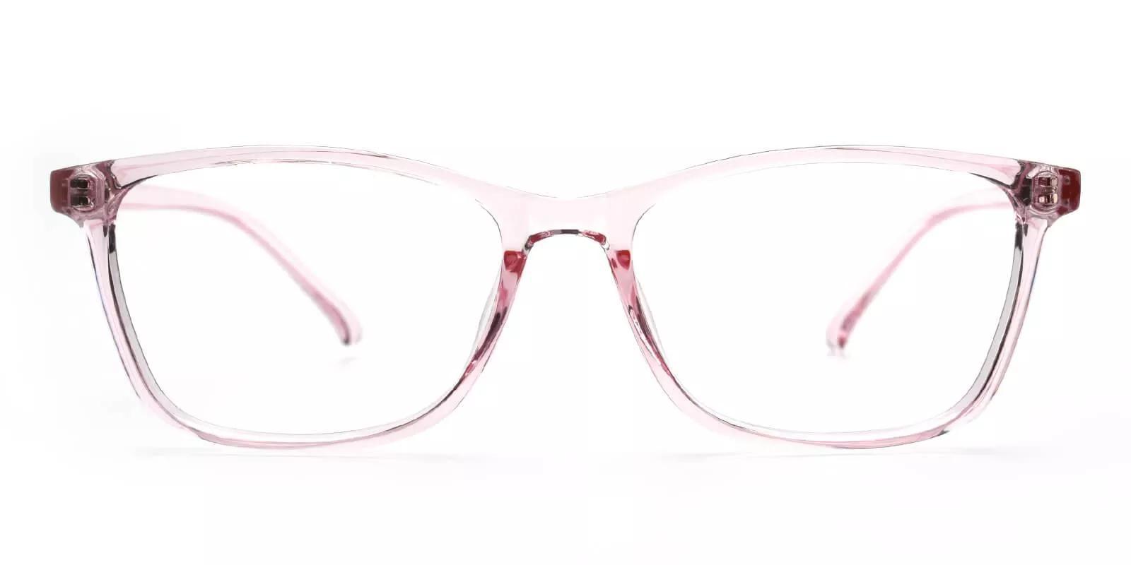 Davenport Light Weight Eyeglasses Pink Clear