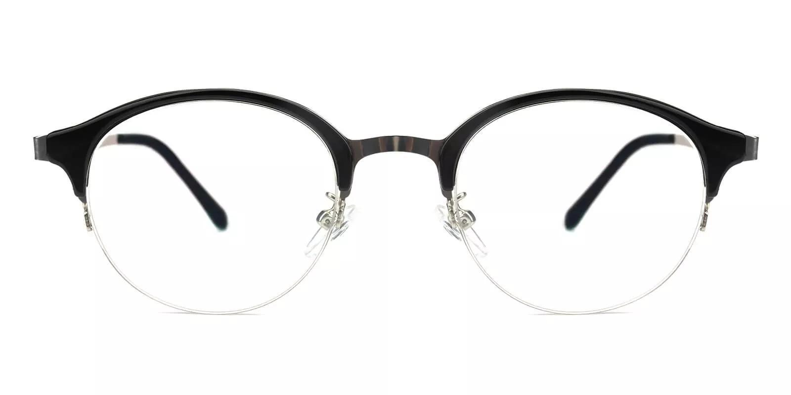Meridian Half Rim Eyeglasses Black