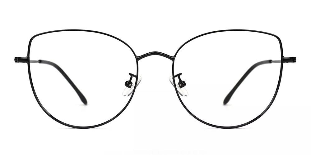 Beaumont Metal Cat Eye Prescription Glasses Black