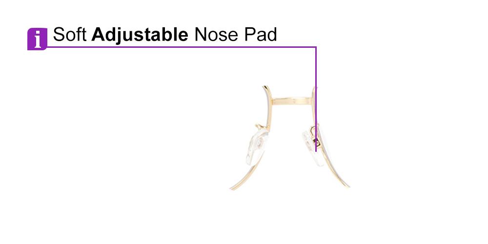 Frisco Aviator Prescription Safety Glasses Gold-- Impact Resistant Side Shields