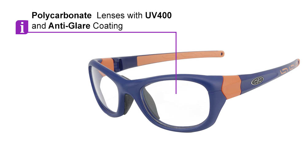 Matrix Boston Prescription Safety & Sports Glasses Blue