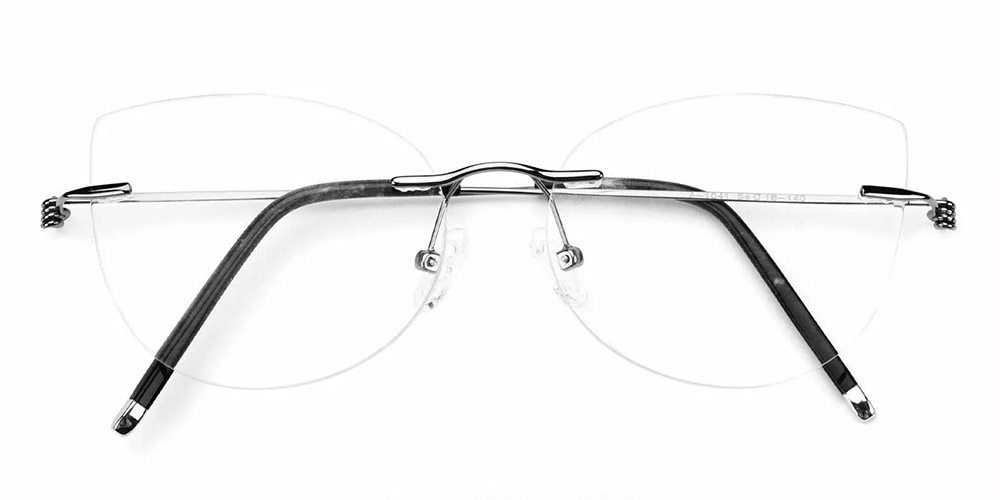Kileen Rimless Prescription Glasses Gun