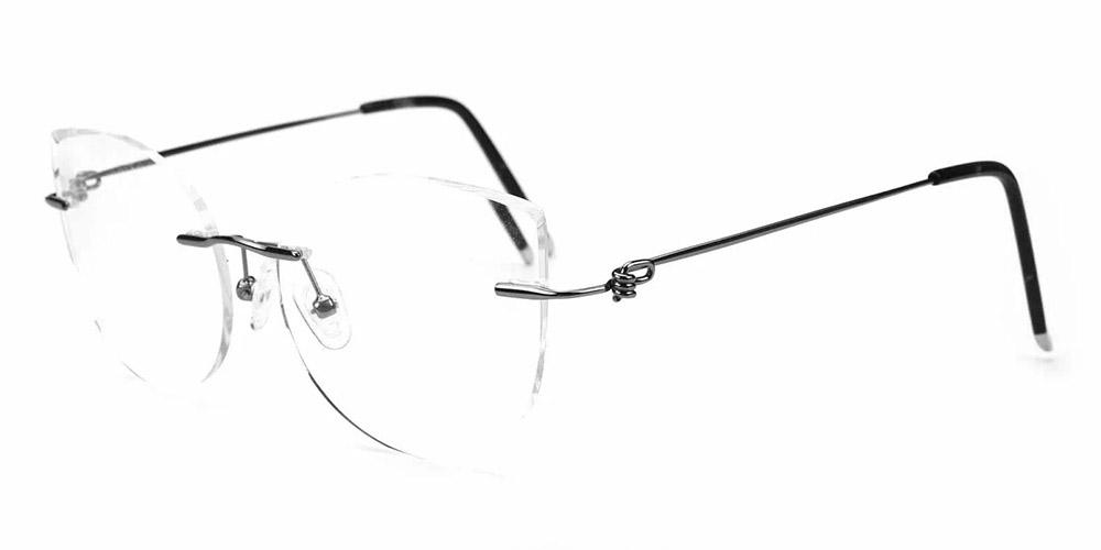 Kileen Rimless Prescription Glasses Gun