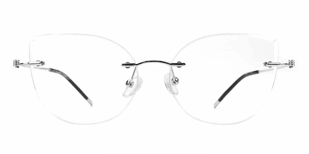 Kileen Rimless Prescription Glasses Silver