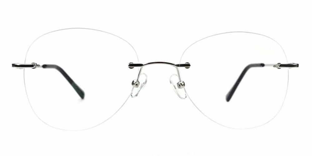 Bellevue Rimless Prescription Glasses Silver