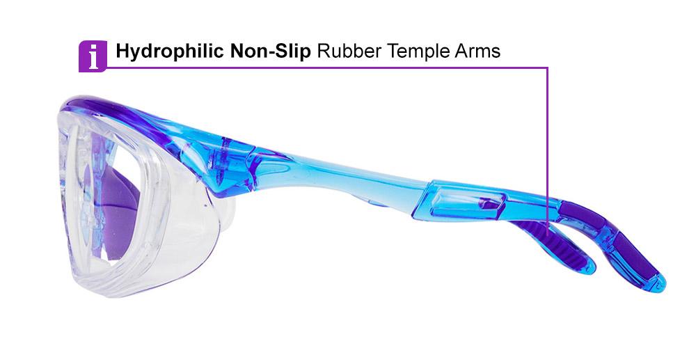 Fusion Toledo  Prescription Safety Glasses Blue - ANSI Z87.1 Certified Stamped
