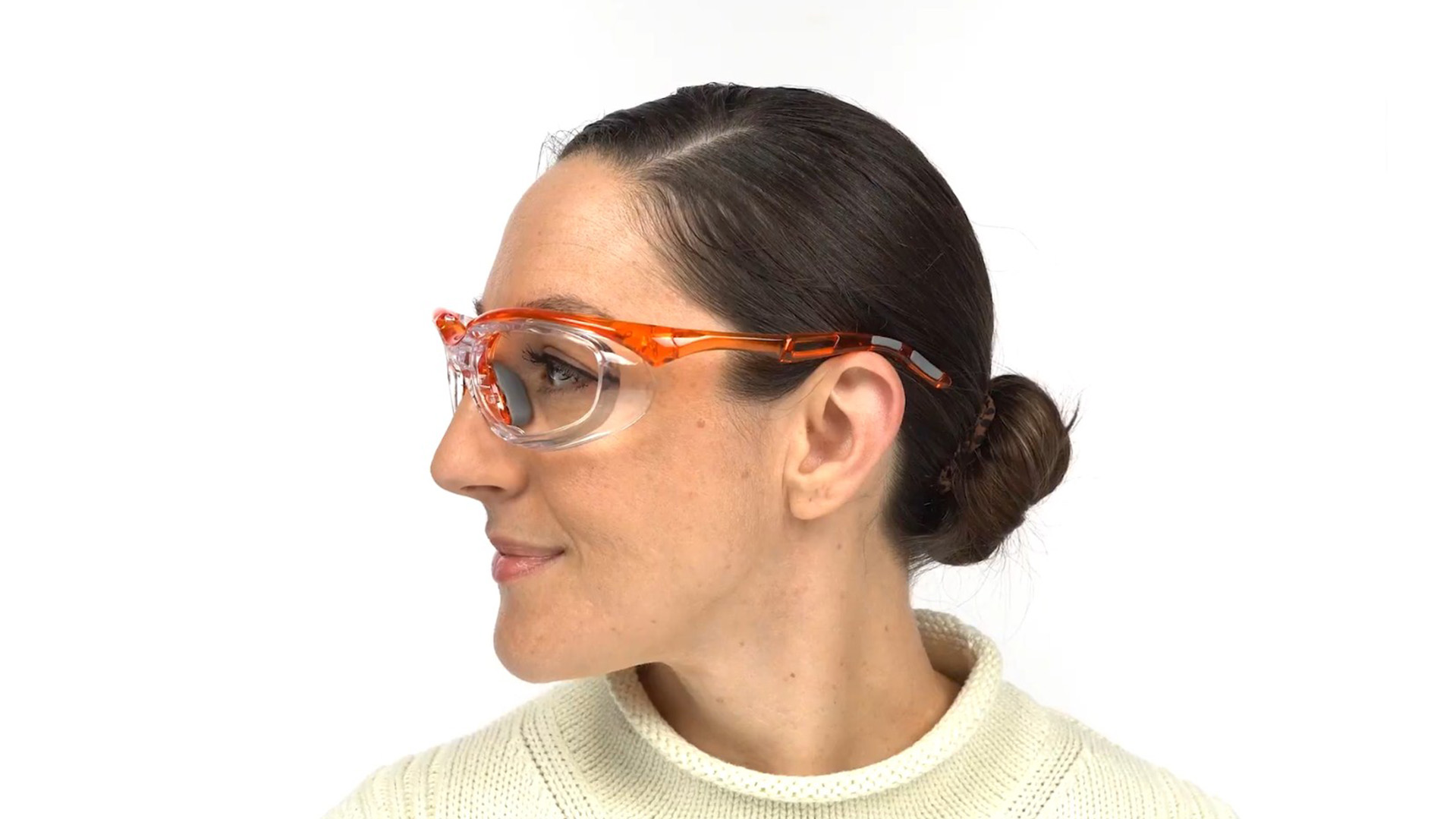 Fusion Toledo  Prescription Safety Glasses Orange - ANSI Z87.1 Certified Stamped