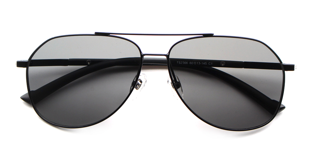Ian Rx Sunglasses Black - Metal Prescription Sunglasses