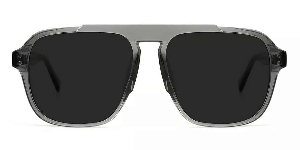 Manchester Aviator Sunglasses Clear Gray