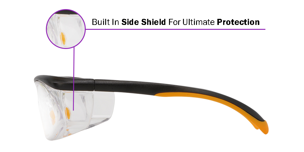 Fusion Rx Safety Goggles W1 - Unisex Safety Glasses