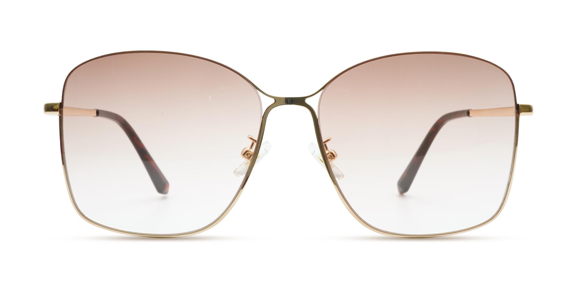 Homell Sunglasses Gold - Women Prescription Sunglasses