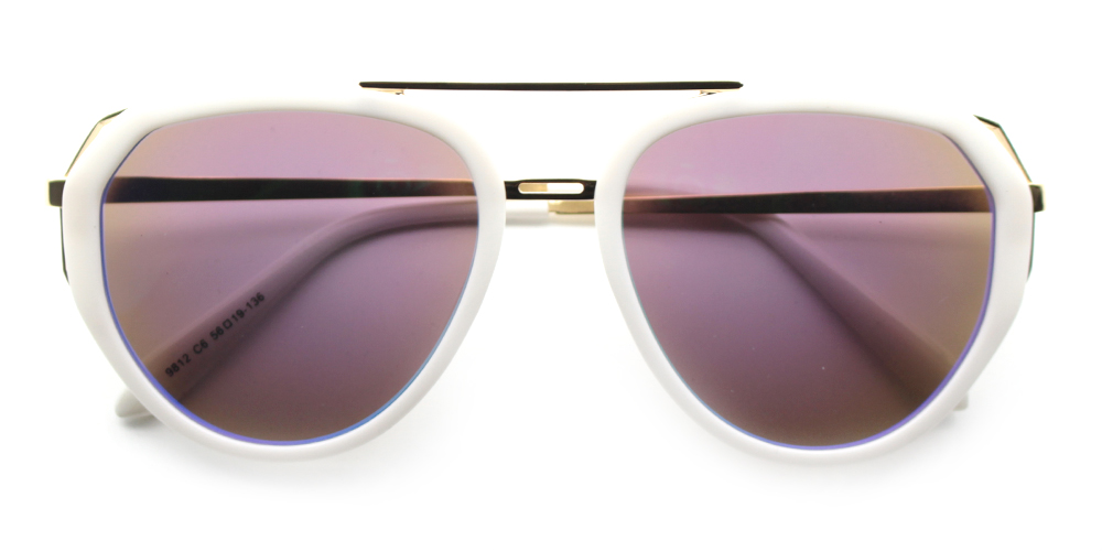 Ava Rx Sunglasses White