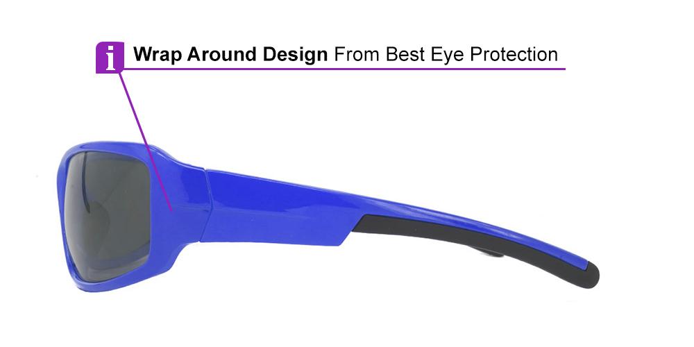 Tacoma Prescription Sports Sunglasses Blue -- ANSI Z87.1 Rated