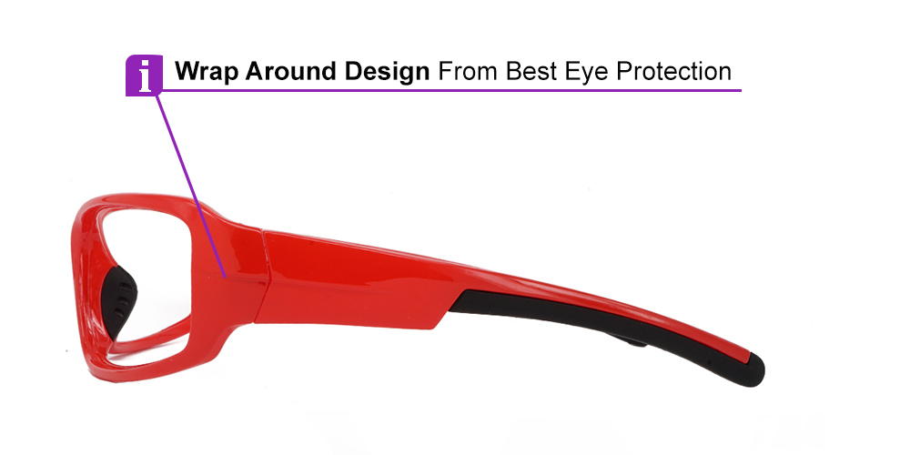 Tacoma Prescription Safety Glasses Red -- ANSI Z87.1 Rated