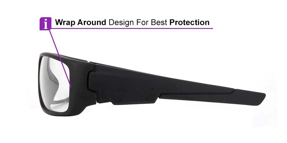 Fusion Amarillo Prescription Safety Glasses -- ANSI Z87.1 Rated