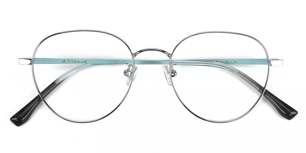 Palm Bay Prescription Glasses - Titanium Frame - Silver