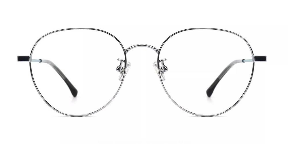 Palm Bay Prescription Glasses - Titanium Frame - Silver