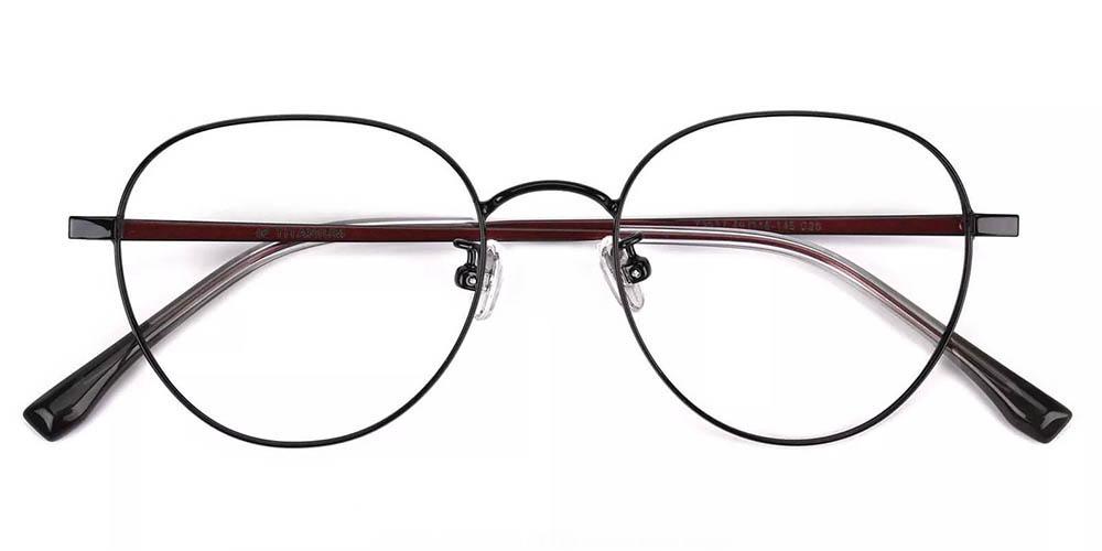 Palm Bay Prescription Glasses - Titanium Frame - Black