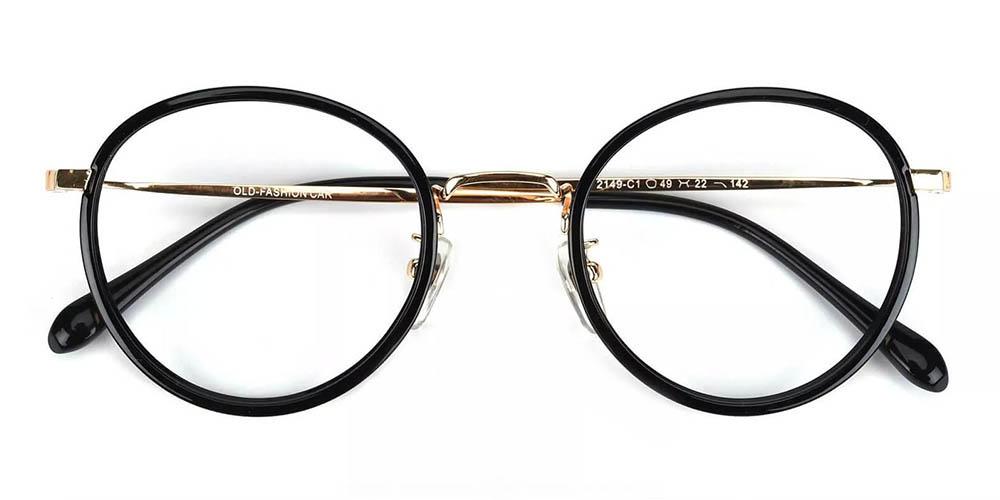 Lamont Prescription Glasses - Handmade Acetate - Black