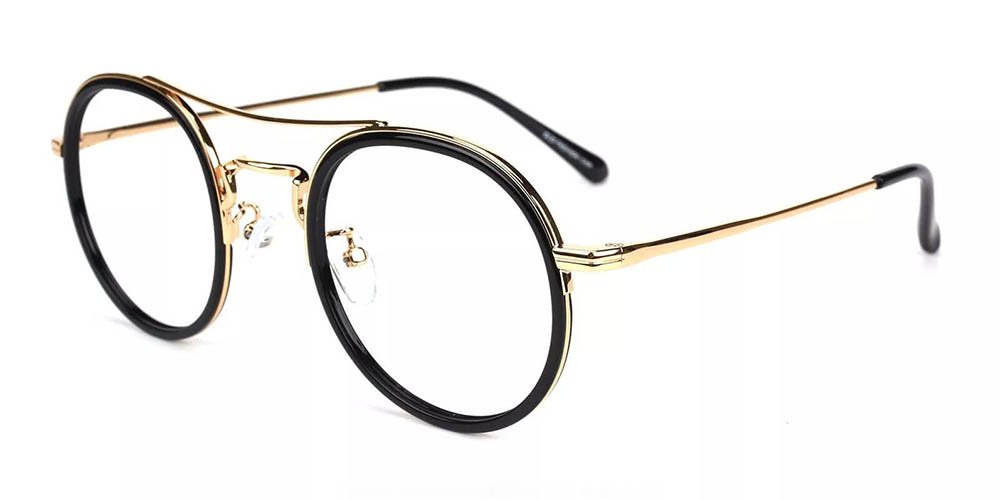 Lancaster Prescription Glasses - Handmade Acetate - Black