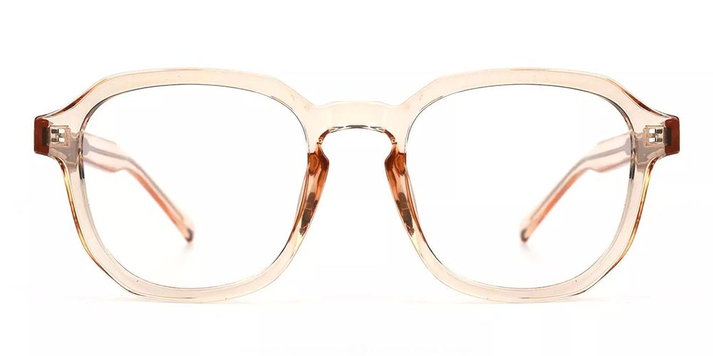 Victorville Prescription Glasses - Super Light TR90 - Clear Orange