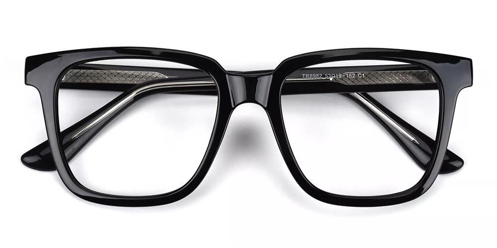 Wilmington Prescription Glasses - Super Light TR90 - Black