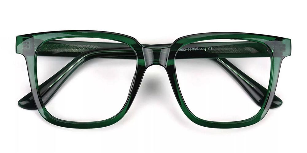 Wilmington Prescription Glasses - Super Light TR90 - Green